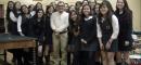 Horacio Castellanos, ganador del Premio Manuel Rojas 2014, dialoga con alumnas del Liceo Javiera Carrera