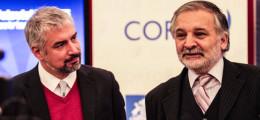 Ministro de Cultura, Ernesto Ottone, y el vicepresidente ejecutivo de Corfo, Eduardo Bitran