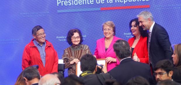 Premio a la Musica Nacional Presidente de la Republica entregado hoy lunes 28 de mayo en La Moneda  Foto: Natalia Espina / CNCA