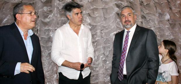 Paolo Baratta, Alejandro Aravena, Ministro Ottone - Bienal Venecia